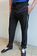 Мужские спортивные штаны Reebok 6986-2 темно-синие и черные код 370б