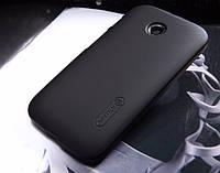 Чехол Nillkin для Motorola Moto E (XT1021 / XT1022) чёрный (+пленка)