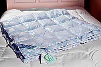 Одеяло пуховое Экопух 100/0 200х220 1600г кремово-голубое