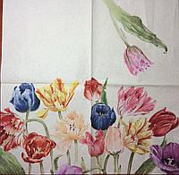 "Салфетки для декупажа ""Mona Svard Тюльпаны"" 33*33 см"