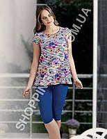 Домашний костюм Mel Bee (Sahinler) 22701 футболка и капри (бриджи)