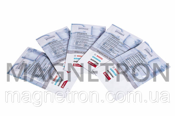 Салфетки (5 шт) для ухода за поверхностями из нержавеющей стали Bosch 311134, фото 2