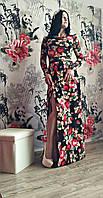 Очень красивое платье в пол с цветами