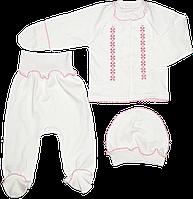 Комплект для новорожденного: кофточка, ползунки, шапочка, антицарапки, интерлок, ТМ Пеппи, р. 62