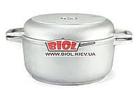 Кастрюля алюминиевая 3л с утолщенным дном и крышкой сковородкой БИОЛ К302