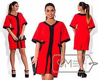 Платье-кимоно XXL с бантами на талии