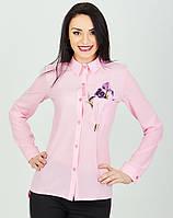 Женская блуза светло-розового цвета