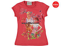 """Красивая летняя футболка  для девочек """"Анна и Ельза"""" 6, 8, 9 лет.Турция!100 % хлопок!Детская летняя одежда!"""
