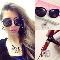 """Женские красивые очки с красной дужкой """"Versace"""""""