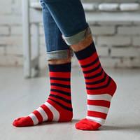Стильные мужские носки в яркую полоску ТМ Дюна
