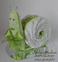 Улитка из памперсов Libero с комплектом вещей. Подарок новорожденному.