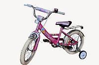 """Детский 2-х колесный велосипед Марс 14"""" (розовый)"""