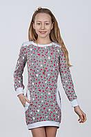 Нарядное платье Туника трикотажная-3 для девочек подростков