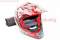 Шлем кроссовый HF-117 XL-красный