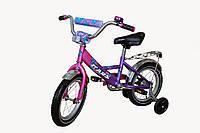 """Детский 2-х колесный велосипед Марс 14"""" (розовый/фиолетовый)"""