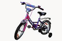"""Детский 2-х колесный велосипед Марс 16"""" ручной тормоз+эксцентрик (розовый/фиолетовый)"""