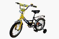 """Детский 2-х колесный велосипед Марс 20"""" ручной тормоз+эксцентрик (желтый/черный)"""