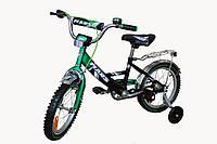 """Детский 2-х колесный велосипед Марс 20"""" ручной тормоз+эксцентрик (зеленый/черный)"""