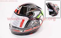 Шлем закрытый с откидным подбородком+очки HF-118 M- ЧЕРНЫЙ с рисунком цветным