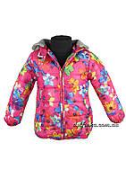 Куртка для девочек  3-6 лет цветная