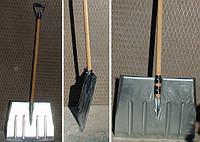 Лопата для снега оцинкованная (черенок дерево) 480*400