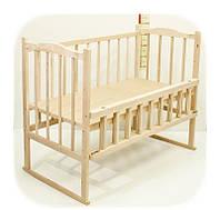 Экологически чистая кроватка без лака КФ3. Дуги. Колеса