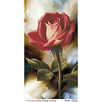 ТК-020 Роза 44х82. Барвиста вишиванка. Схема на ткани для вышивания бисером