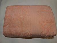 Полотенце махровое Размер 100х180см цвет абрикосовый .(кремовый), Туркменистан