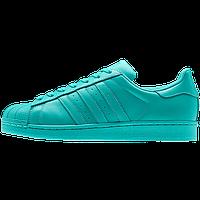 Кроссовки женские Adidas Superstar Supercolor (адидас, оригинал) бирюза