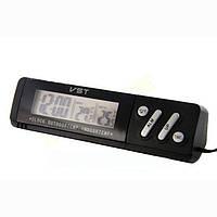 Часы автомобильные VST-7067 с термометром
