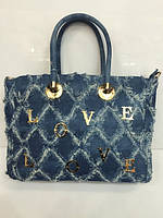Женская сумка классическая 1461 джинсовая разные цвета