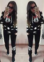Спортивный женский костюм Поночка цвет чёрный