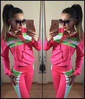 Спортивный женский костюм Яркий  розовый