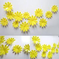Цветы 3D декор жёлтые (маленькие)