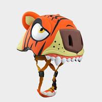 Шлем Crazy Safety Тигр с задним фонариком безопасности