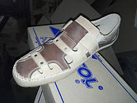 Мужские летние кожаные туфли