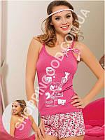 Женская пижама Maranda 453, домашний костюм майка и шорты