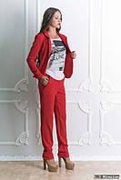 Брючный костюм женский красный