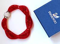 Браслет женский Swarovski Dubble красный, магазин бижутерии