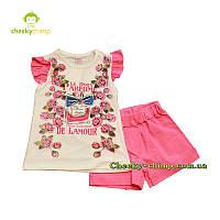Детский костюм на девочку De Lamour (футболка, шорты) двойка