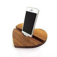 Подставка из дерева Сердце для смартфонов и планшетов