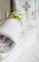 """Крыжма для крещения """"Белая"""" (хлопок)-размер-70х140 см *"""