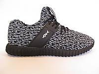 Кроссовки мужские  Adidas Yeezy Boost 350 текстиль, черные с серым(адидас) р.44,45