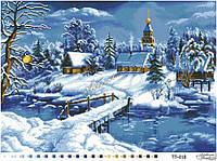 Барвиста Вишиванка ТП-018 Сказочная зима, схема для вышивания бисером
