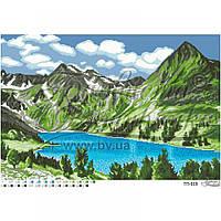 Барвиста Вишиванка ТП-019 Озеро в сердце гор, схема для вышивания бисером