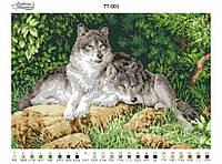 Барвиста Вишиванка ТТ-001 Волки, схема для вышивания бисером