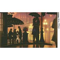 ТЛ-007 Вечер под зонтом 55х35. Барвиста вишиванка. Схема на ткани для вышивания бисером