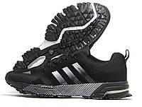 Кроссовки мужские Adidas Marathon 13 черные (адидас марафон)