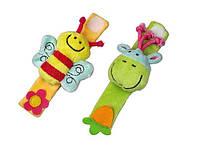 Развивающие детские браслетики на ручку Сow&Bee Божья коровка и Пчелка