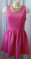 Платье женское модное яркое розовое мини бренд Glamorous р.46 6189